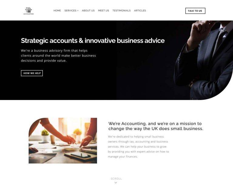 Chick accountant website design