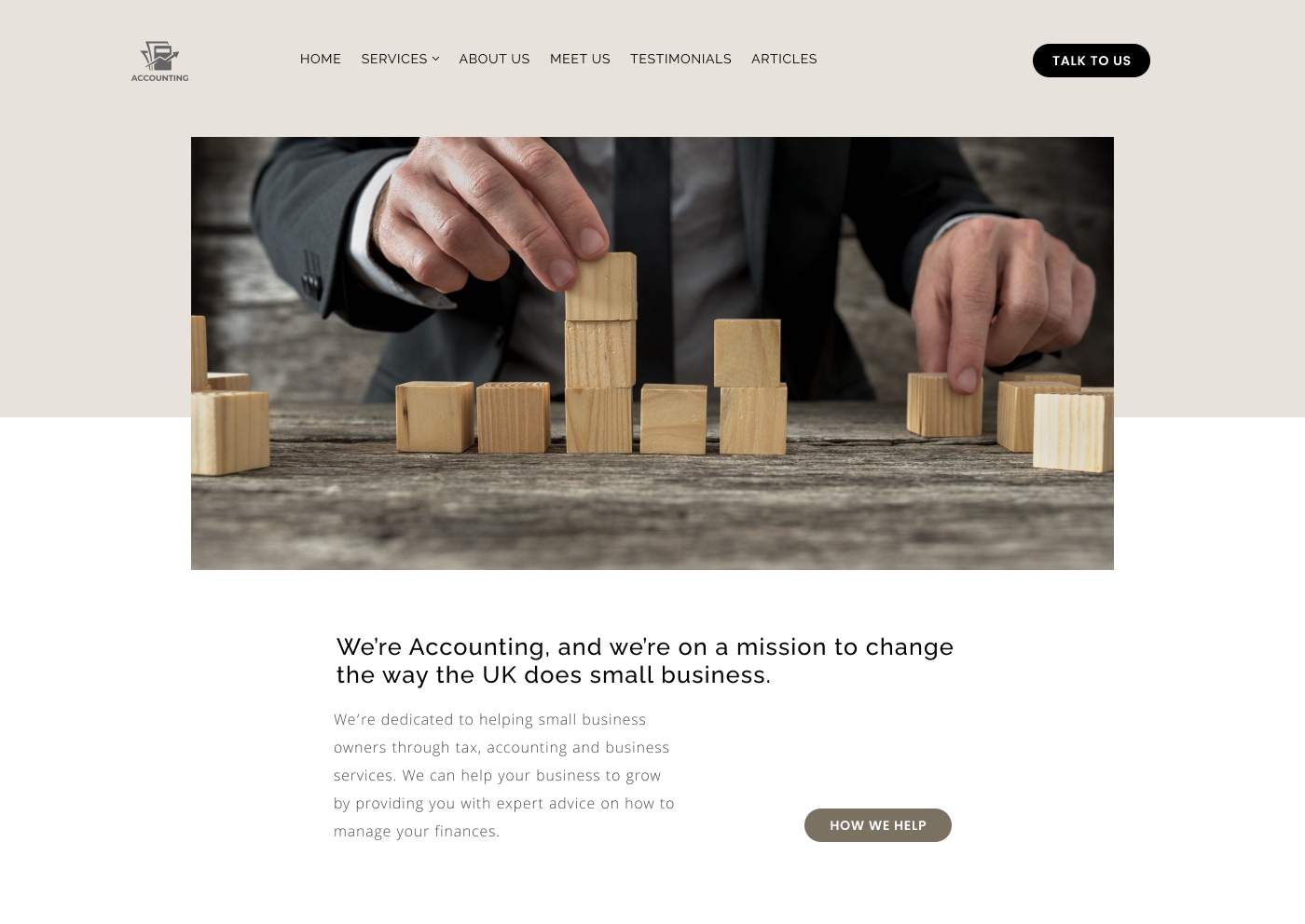 Traditional accountant website design